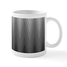 Ombre Black to Grey Chevron Pattern Mugs