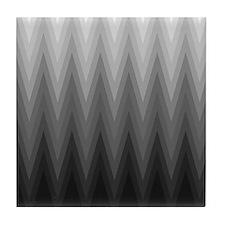 Ombre Black to Grey Chevron Pattern Tile Coaster