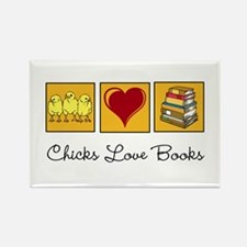 Chicks Love Books Magnets