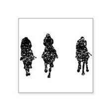 Distressed Horse Racing Sticker