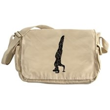 Distressed Headstand Silhouette Messenger Bag