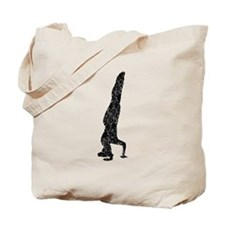 Distressed Headstand Silhouette Tote Bag