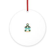 School Building Ornament (Round)