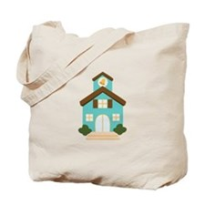 School Building Tote Bag
