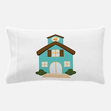 School Building Pillow Case