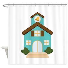 School Building Shower Curtain