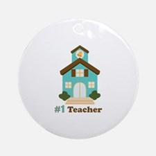 Teacher Ornament (Round)