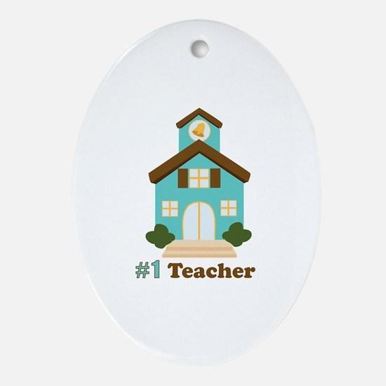 Teacher Ornament (Oval)