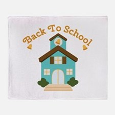 Back To School Throw Blanket