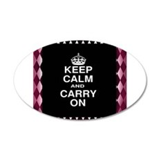 Keep Calm and Carry On Black Pink Wall Decal