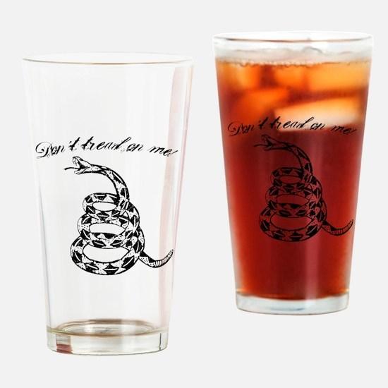 Gadsden Don´t tread on me print Drinking Glass