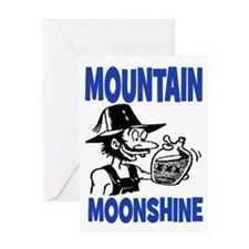 MOUNTAIN MOONSHINE Greeting Card