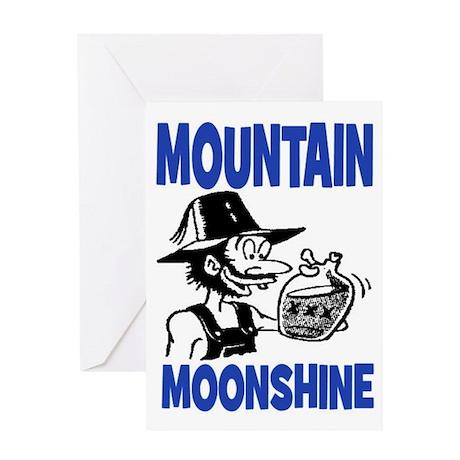 MOUNTAIN MOONSHINE Greeting Card