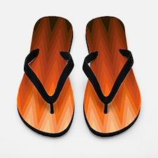 Brown Orange Beige Ombre Chevron Flip Flops