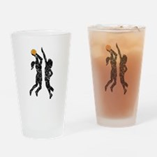 Distressed Basketball Players Drinking Glass