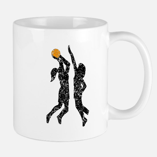 Distressed Basketball Players Mugs