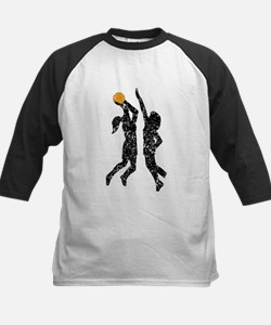 Distressed Basketball Players Baseball Jersey