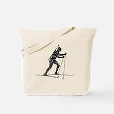 Distressed Biathlete Silhouette Tote Bag