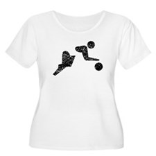 Distressed Basketball Player Plus Size T-Shirt