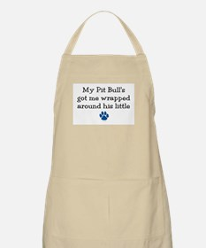 Wrapped Around His Paw (Pit Bull) BBQ Apron