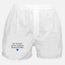 Wrapped Around His Paw (Pit Bull) Boxer Shorts