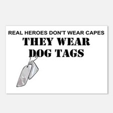 REAL HEROES WEAR DOG TAGS Postcards (Package of 8)