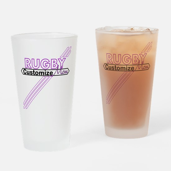 Rugby Sports Mom Drinking Glass