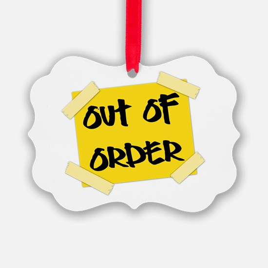 Out of Order Sign Ornament
