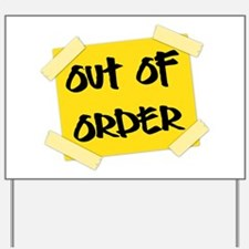 Out of Order Sign Yard Sign