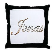 Gold Jonas Throw Pillow