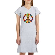 Peace Love Owls Women's Nightshirt