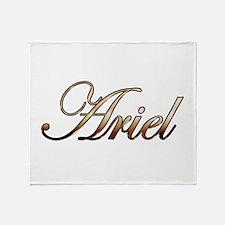 Gold Ariel Throw Blanket