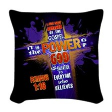 I Am Not Ashamed Woven Throw Pillow