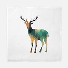Geometric Deer Queen Duvet