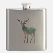 Geometric Deer Flask
