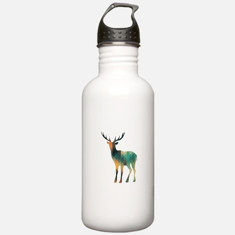 Geometric Deer Water Bottle