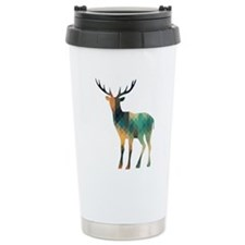 Geometric Deer Travel Mug