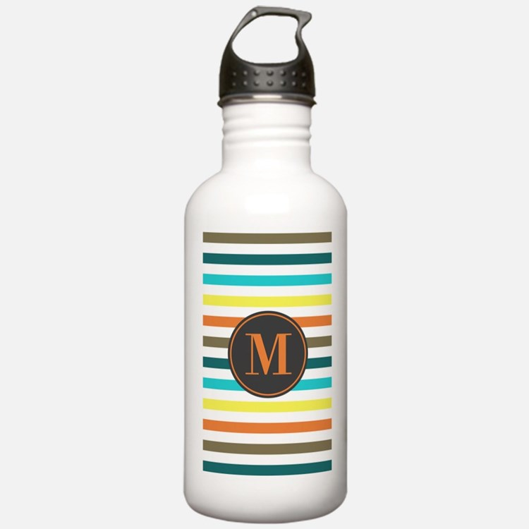 Chic Bold Stripes Cust Water Bottle