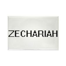 Zechariah Digital Name Design Magnets