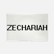 Zechariah Digital Name Design Magnets