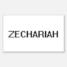 Zechariah Digital Name Design Decal