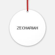 Zechariah Digital Name Design Ornament (Round)