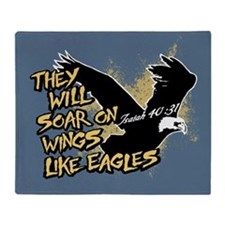 Soar on Wings like Eagles Throw Blanket