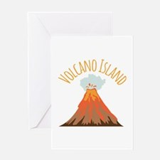 Volcano Island Greeting Cards