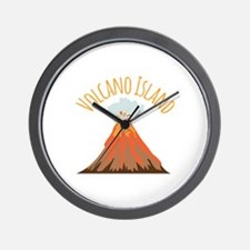Volcano Island Wall Clock