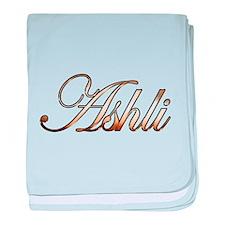 Gold Ashli baby blanket