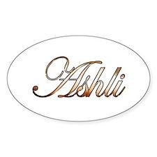 Gold Ashli Decal