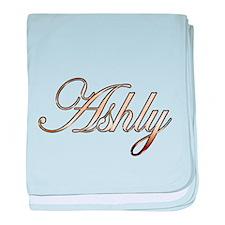 Gold Ashly baby blanket