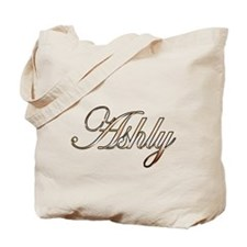 Gold Ashly Tote Bag