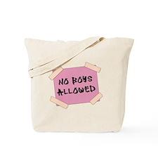 No Boys Allowed Sign Tote Bag